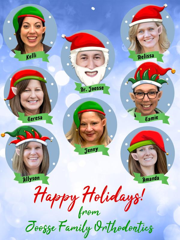 Happy Holidays from the Joosse Family Orthodontics Team